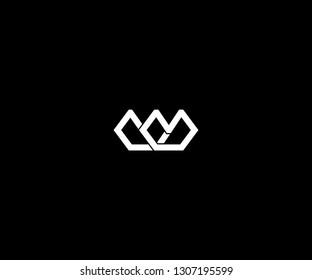 lettermark W logo design or simple crown logo design