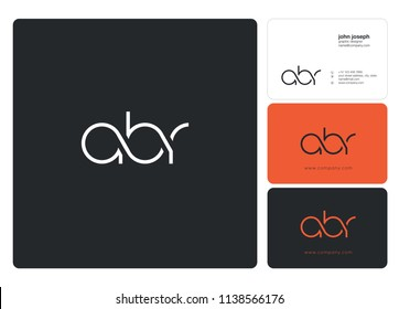 Letters ABR Joint logo icon with business card vector template.