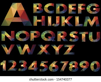 Letters Abstract color of Illustration vector