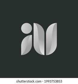 Letters AU or UA logo monogram, elegant logo combination two letters A and U or U and A initials, minimal style AU or UA identity mark