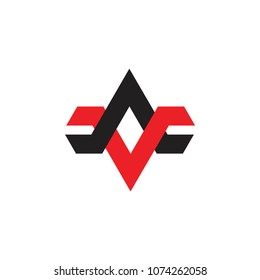 letters av linked arrows logo vector