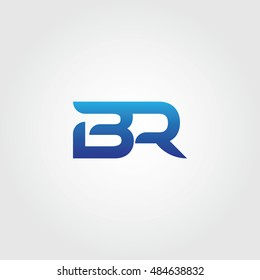 The letters B and R combined Icon Logo Templates. BR Initial Vector Design Element For Download