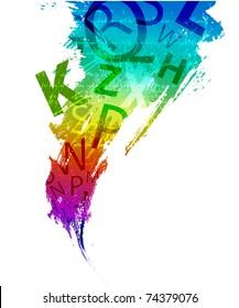 Letters background design