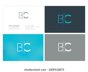 Letters BC, B & C joint logo icon vector element.