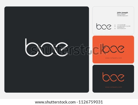 Letters Bce Logo Icon Business Card Stock Vector Royalty Free