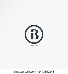 Letters BI negative space logo with a simple classic concept, vectors can be edited according to their wants and needs.