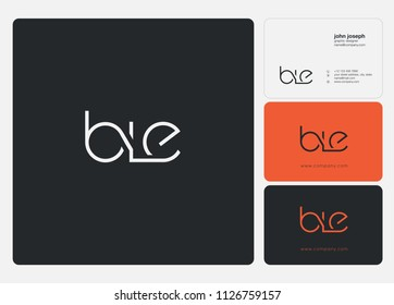 Letters BLE logo icon with business card vector template.