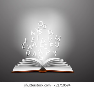 Letters in book