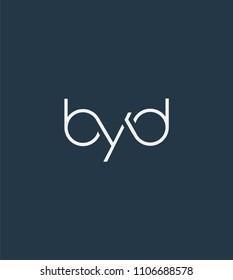 Letters BYD Joint logo icon vector element.