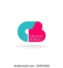 Vorlage für das Logo der Buchstaben C und B. Kreatives Design-Konzept.