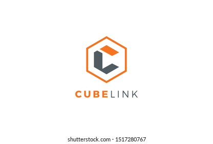 Letters C and L logo form the cube object