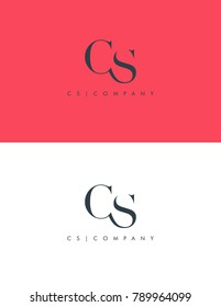 Letters C S joint logo icon vector element.