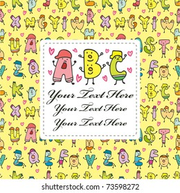 letters card
