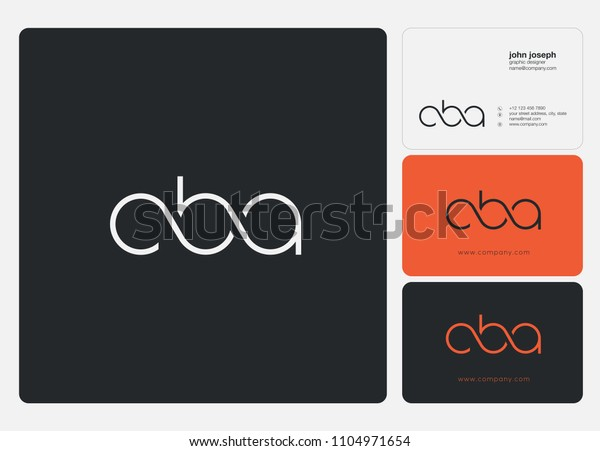 Letters Cba C B Joint Logo Stock Vector (Royalty Free