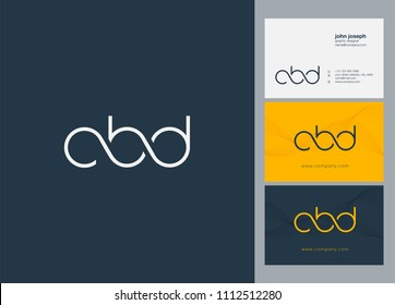 Letters CBD logo icon with business card vector template.