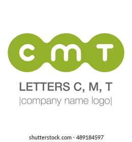 The letters CMT. Sign, symbol, logo. Vector illustration.