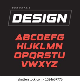 Letters collection. Italic bold geometric alphabet, geometrical design. Sport game vector font template on black background.