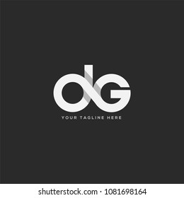 Letters D G joint logo icon vector template.