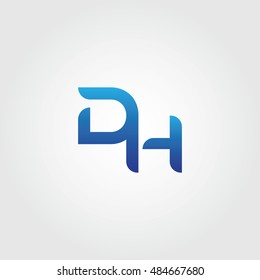 The letters D and H combined Icon Logo Templates. DH Initial Vector Design Element For Download