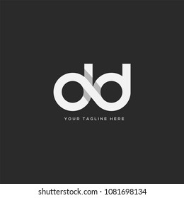 Letters D D joint logo icon vector template.