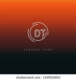 Letters D T Joint logo icon vector element.