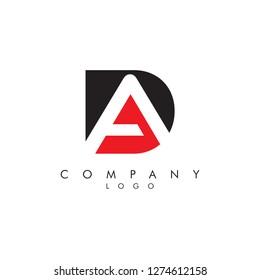 Letters da/ad Company logo icon vector