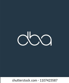 Letters DBA Joint logo icon vector element.