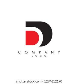 Letters dd/d Company logo icon vector