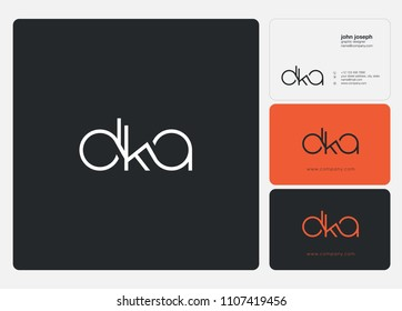 Letters DKA logo icon with business card vector template.