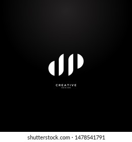 Letters DP logo with a modern and elegant design. suitable for clothing brands or clothing stores.