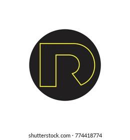 letters dr line art clear design logo vector