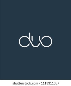 Letters DUO Joint logo icon vector element.