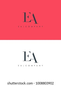 Letters E A, E & A joint logo icon vector element.