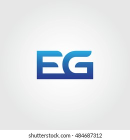 The letters E and G Combined Icon Logo. EG Initial Vector Design Element For Download