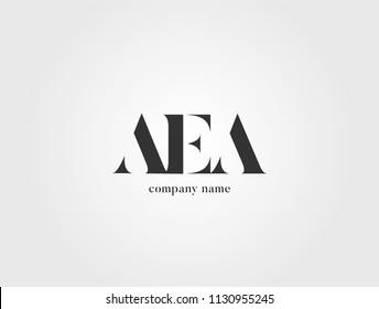 Letters A E A logo icon vector template.