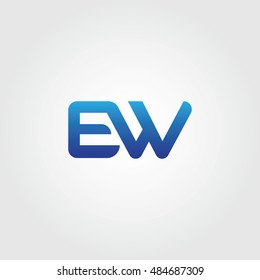 The letters E and W Combined Icon Logo. EW Initial Vector Design Element For Download