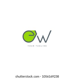 Letters E W, E & W joint logo icon vector template.
