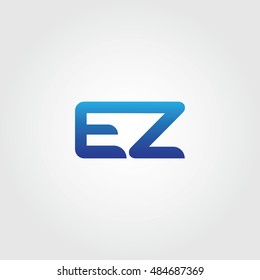 The letters E and Z Combined Icon Logo. EZ Initial Vector Design Element For Download