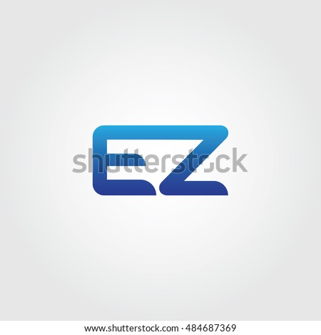 Letters E Z Combined Icon Logo Stock Vector Royalty Free 484687369