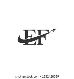 letters ef logo template
