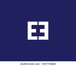 letters eh and he logo design vector template