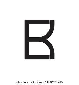 letters ek linked simple geometric design vector