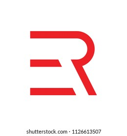 letters er motion design logo vector