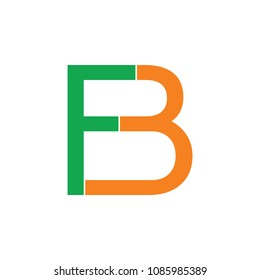 letters f3 or fb logo vector