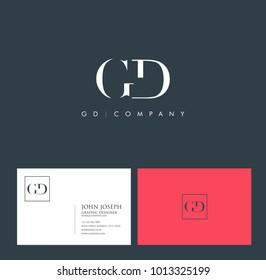 Letters G D, G & D joint logo icon vector element.