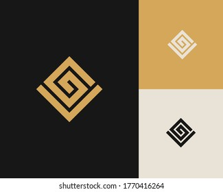 Letters G and V or GV line logo design. Linear minimal stylish emblem. Luxury elegant vector element. Premium business logotype. Graphic alphabet symbol for corporate business identity