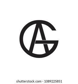 letters ga geometric design logo vector