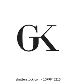 letters gk linked logo vector