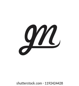 letters gm curves linked logo vector