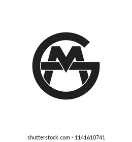 letters gm monogram logo vector